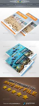 luxurious travel flyer templates wakaboom travel agency marketing flyer