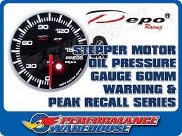DEPO RACING <b>OIL</b> PRESSURE STEPPER MOTOR GAUGE <b>60MM</b> ...