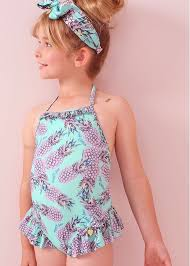 Cara <b>Girls Pineapple Swimsuit</b> | Angel's Face