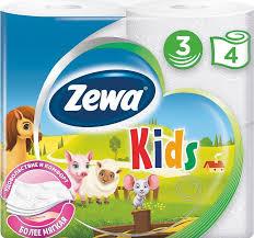 Купить <b>Бумага туалетная ZEWA Deluxe</b> Kids, 3-х слойная, 4шт в ...