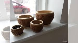 Керамические <b>горшки набор из 4</b>-<b>х</b> шт купить в Томской области ...