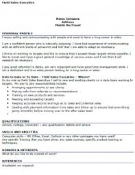 field sales executive cv example   icover org uk