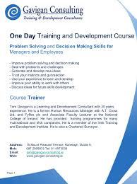 gavigan consulting problem solving and decision making skills cours