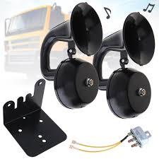 <b>12V</b> / <b>24V 126DB Super</b> Loud Dual Trumpet Air Horn Waterproof ...