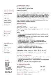 sample teacher resume   like the bold name with line