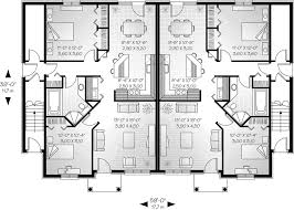 Marland Multi Family Fourplex Plan D    House Plans and MoreNeoclassical Home Plan First Floor   D    House Plans and More