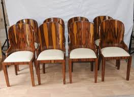 set art deco dining chairs rosewood furniture 1920s interiors art deco dining furniture