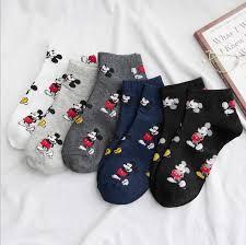 <b>Korean Style</b> Mickey <b>women</b> boat Socks Fashion spring summer ...