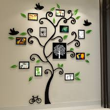 Small Picture Aliexpresscom Buy Beautiful Photo Frame Tree Design 3D Acrylic