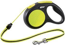 Поводок-<b>рулетка Flexi Neon</b> New Classic М (до 20 кг) трос 5 м ...