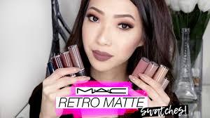 <b>MAC Retro Matte</b> Liquid Lipcolour Swatches! - YouTube