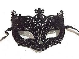 Wanna Party <b>Fashionable</b> Glitter Fashion Eye Mask - Black: Amazon ...