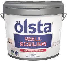 "<b>Краска</b> акриловая <b>Olsta</b> ""<b>Wall & Ceiling</b>. <b>База</b>"", для стен и ..."
