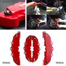 <b>3D</b> Red <b>4Pcs Set</b> New Style Car <b>Universal</b> Disc Brake Caliper ...