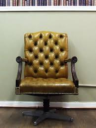 chesterfield library chairs 1950s tan leather office chair by ring mobelfarikk eames chesterfield presidents leather office chair amazoncouk