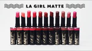 [SWATCH + REVIEW] LA GIRL <b>FLAT VELVET MATTE</b> LIPSTICK ...
