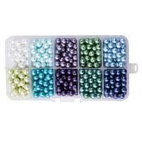 ARRICRAFT 10 Strands Black Faceted <b>Abacus Handmade Glass</b> ...