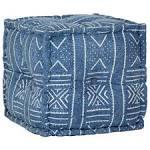 <b>Pouffe Cube Cotton</b> with Pattern Handmade 40x40 cm Indigo Sale ...