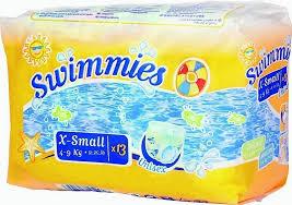 <b>Swimmies</b> Детские <b>трусики для плавания</b> X-Small (4-9 кг) 13 шт ...