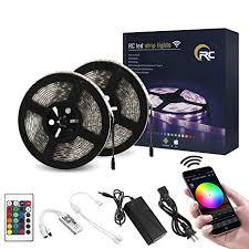 RC <b>WiFi</b> LED Strip Lights 32.8ft <b>RGB LED</b> Strip Light 5050 LED Light ...