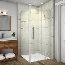 "Aston Avalux GS 35"" x 72"" Square Hinged Shower Enclosure 