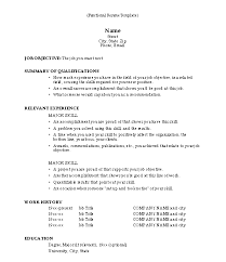 functional resume template free combination resume template