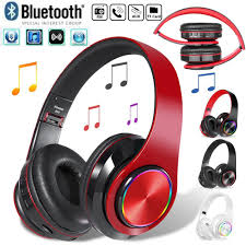 <b>Led</b> Wireless Headset Bluetooth 5.0 Stereo <b>Over Ear Foldable</b> ...