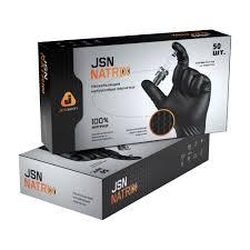 Коробка черных <b>нитриловых перчаток</b> JETA SAFETY JSN <b>NATRIX</b>