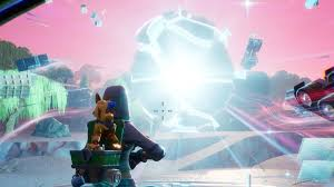 Fortnite - Touch a giant glowing cube, enter the Rift above Loot Lake ...