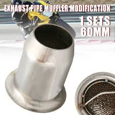 <b>60mm Universal</b> Motorcycle Exhaust Pipe Silencer Muffler Baffle ...