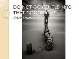 poetry unit analysis catalysts form poetry opening qs  what is  do not go gentle into that goodnight dylan thomas