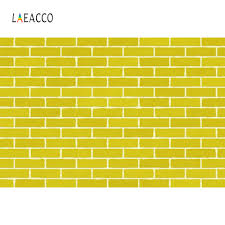 <b>Laeacco</b> Vinyl Photo Backgrounds Yellow Solid <b>Color Brick</b> Wall ...