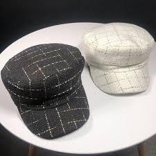 HT2041 Autumn <b>Winter Hat Caps</b> for Women Retro Vintage Flat Top ...