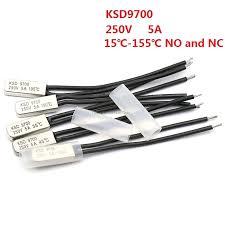 KSD9700 250V 5A 15~155 Degree Bimetal Disc Temperature ...