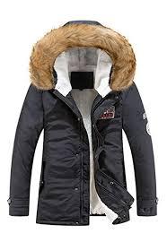Wicky LS Men's Warm <b>Thicken</b> Winter <b>Fur</b> Hoodie Jacket Coat ...