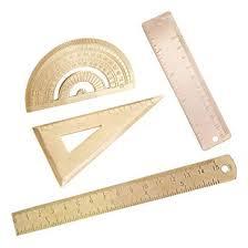 4pcs Brass Ruler Degree Standard Protractor Triangle ... - Amazon.com