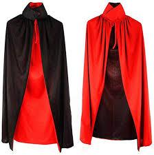 nooshi <b>Double Layers</b> Black Red Vampire Cape <b>Reversible</b> Cloak ...