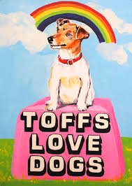 Toffs <b>Love Dogs</b> Print by Magda Archer | JEALOUS
