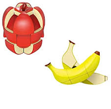 Buy Cubelelo <b>Fruit Shape Apple</b> & Banana Cube Combo <b>Puzzle Toy</b> ...
