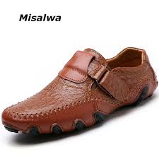 <b>Misalwa 2019</b> Men Casual Leather Shoes <b>Summer</b> Autumn Soft ...