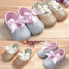 <b>US STOCK</b> Glitter baby shoes sneaker anti-slip soft sole <b>toddler</b> size ...