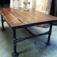 custom made industrial cast iron pipe coffee table by j reclaimed wood custom furniture custommade black iron pipe table