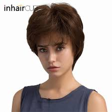 Esin Fluffy Synthetic Blend Hair Short Wigs for <b>Women Multi layered</b> ...