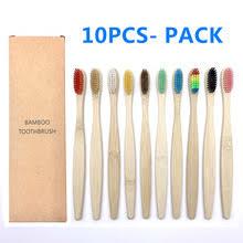 10 шт. цветная <b>зубная щетка из</b> натурального <b>бамбука</b>, набор ...