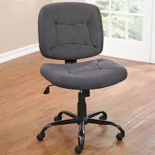 gray wide armless office chair with on wheels armless office chair wheels