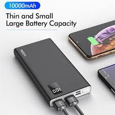 Портативное <b>зарядное устройство ROCK</b>, 10000 мАч, для xiaomi ...
