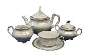 <b>Чайный сервиз</b> на 6 персон 15 предметов Мария Платиновый ...