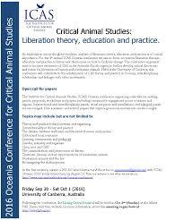 call for presentations for the 2016 4th annual oceania critical animal studies cfp 2016