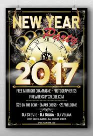 new year party flyer template flyerroom