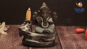 Smokey Waterfall <b>Ganesha Incense Burner</b> | Back-flow <b>Burner</b> ...